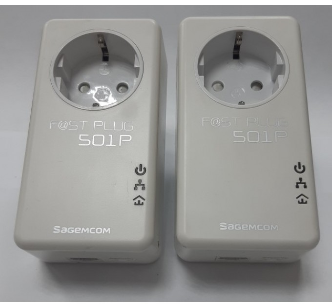 Комплект PLC-адаптеров  SAGEMCOM Fast Plug 501P (Б/У)
