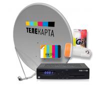 Комплект ТЕЛЕКАРТА HD (EVO-07) с антенной 0,8м