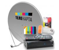 Комплект ТЕЛЕКАРТА SD (Globo X90) с антенной 0,8м